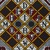 Vlisco B.V.. <em>Wax Print Textile, ABC Pattern</em>, ca. 2018. Cotton, synthetic dye, 36 × 36 in. (91.4 × 91.4 cm). Brooklyn Museum, Gift of Vlisco B.V., 2019.1.4 (Photo: , TL2018.76.4_detail01_PS9.jpg)