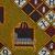 Vlisco B.V.. <em>Wax Print Textile, ABC Pattern</em>, ca. 2018. Cotton, synthetic dye, 36 × 36 in. (91.4 × 91.4 cm). Brooklyn Museum, Gift of Vlisco B.V., 2019.1.5 (Photo: , TL2018.76.5_detail02_PS9.jpg)