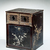 <em>Shrine Cabinet</em>, 17th-18th century. Lacquered wood inlaid with mother-of-pearl; metal hardware, 18 × 14 15/16 × 12 3/4 in. (45.7 × 37.9 × 32.4 cm). Brooklyn Museum, Gift of Nicholas Grindley, 2019.8.1 (Photo: , TL2019.9.1_threequarter_right.jpg)
