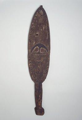 <em>Spirit Board (Kwoi)</em>, 19th century. Wood, pigment, fiber, 33 3/4 x 7 in. (85.7 x 17.8 cm). Brooklyn Museum, Brooklyn Museum Collection, 00.137. Creative Commons-BY (Photo: Brooklyn Museum, 00.137.jpg)