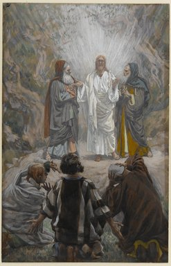 James Tissot (French, 1836-1902). <em>The Transfiguration (La transfiguration)</em>, 1886-1896. Opaque watercolor over graphite on gray wove paper, Image: 9 1/2 x 6 1/16 in. (24.1 x 15.4 cm). Brooklyn Museum, Purchased by public subscription, 00.159.145 (Photo: Brooklyn Museum, 00.159.145_PS1.jpg)