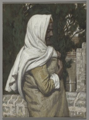 James Tissot (French, 1836-1902). <em>Lazarus (Lazare)</em>, 1886-1894. Opaque watercolor over graphite on gray wove paper, Image: 5 1/4 x 3 7/8 in. (13.3 x 9.8 cm). Brooklyn Museum, Purchased by public subscription, 00.159.183 (Photo: Brooklyn Museum, 00.159.183_PS2.jpg)