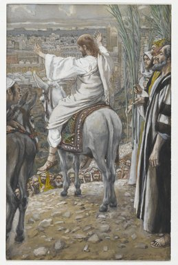James Tissot (French, 1836-1902). <em>The Lord Wept (Le Seigneur pleura)</em>, 1886-1894. Opaque watercolor over graphite on gray wove paper, Image: 7 13/16 x 5 in. (19.8 x 12.7 cm). Brooklyn Museum, Purchased by public subscription, 00.159.193 (Photo: Brooklyn Museum, 00.159.193_PS2.jpg)
