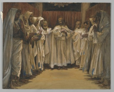James Tissot (French, 1836-1902). <em>The Last Sermon of Our Lord (Dernier Sermon de Notre-Seigneur)</em>, 1886-1894. Opaque watercolor over graphite on gray wove paper, Image: 9 1/4 x 11 9/16 in. (23.5 x 29.4 cm). Brooklyn Museum, Purchased by public subscription, 00.159.225 (Photo: Brooklyn Museum, 00.159.225_PS2.jpg)