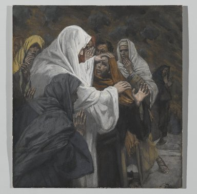 James Tissot (French, 1836-1902). <em>Address to Saint Philip (Allocution à Saint Philippe)</em>, 1886-1894. Opaque watercolor over graphite on gray wove paper, Image: 5 3/8 x 5 in. (13.7 x 12.7 cm). Brooklyn Museum, Purchased by public subscription, 00.159.227 (Photo: Brooklyn Museum, 00.159.227_PS2.jpg)