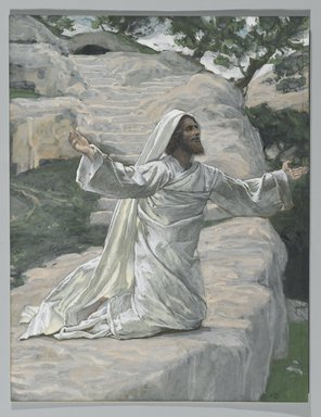 James Tissot (French, 1836-1902). <em>Saint James the Less (Saint Jacques le Mineur)</em>, 1886-1894. Opaque watercolor over graphite on gray wove paper, Image: 12 1/16 x 9 1/4 in. (30.6 x 23.5 cm). Brooklyn Museum, Purchased by public subscription, 00.159.237 (Photo: Brooklyn Museum, 00.159.237_PS2.jpg)