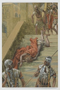 James Tissot (French, 1836-1902). <em>The Holy Stair (La Scala Sancta)</em>, 1886-1894. Opaque watercolor over graphite on gray wove paper, Image: 13 1/4 x 8 7/8 in. (33.7 x 22.5 cm). Brooklyn Museum, Purchased by public subscription, 00.159.272 (Photo: Brooklyn Museum, 00.159.272_PS2.jpg)
