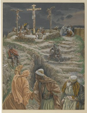 James Tissot (French, 1836-1902). <em>My God, My God, why hast thou forsaken me? (Eli, Eli lama sabactani)</em>, 1886-1894. Opaque watercolor over graphite on gray wove paper, Image: 11 1/2 x 8 13/16 in. (29.2 x 22.4 cm). Brooklyn Museum, Purchased by public subscription, 00.159.302 (Photo: Brooklyn Museum, 00.159.302_PS2.jpg)