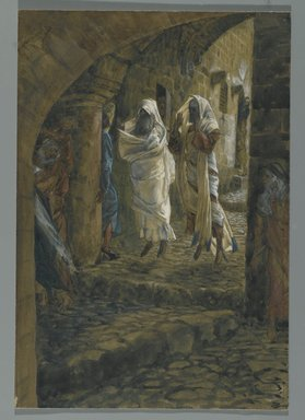 James Tissot (French, 1836-1902). <em>The Dead Appear in Jerusalem (Les morts apparaissent dans Jérusalem)</em>, 1886-1894. Opaque watercolor over graphite on gray wove paper, Image: 10 7/8 x 7 1/2 in. (27.6 x 19.1 cm). Brooklyn Museum, Purchased by public subscription, 00.159.312 (Photo: Brooklyn Museum, 00.159.312_PS2.jpg)