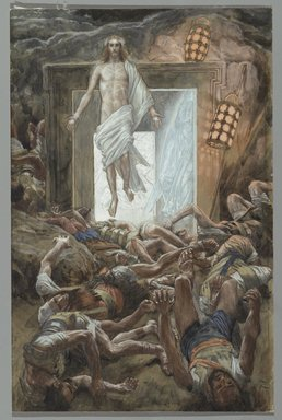 James Tissot (French, 1836-1902). <em>The Resurrection (La Résurrection)</em>, 1886-1894. Opaque watercolor over graphite on gray wove paper, Image: 12 13/16 x 8 5/16 in. (32.5 x 21.1 cm). Brooklyn Museum, Purchased by public subscription, 00.159.328 (Photo: Brooklyn Museum, 00.159.328_PS2.jpg)