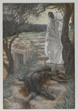 James Tissot (French, 1836-1902). <em>Touch Me Not (Noli me tangere)</em>, 1886-1894. Opaque watercolor over graphite on gray wove paper, Image: 11 1/8 x 7 1/2 in. (28.3 x 19.1 cm). Brooklyn Museum, Purchased by public subscription, 00.159.335 (Photo: Brooklyn Museum, 00.159.335_PS2.jpg)