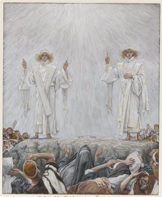 James Tissot (French, 1836-1902). <em>The Ascension</em>, 1886-1894. Opaque watercolor over graphite on gray wove paper, Image: 7 9/16 x 6 3/16 in. (19.2 x 15.7 cm). Brooklyn Museum, Purchased by public subscription, 00.159.349 (Photo: Brooklyn Museum, 00.159.349_PS1.jpg)