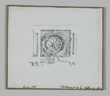 James Tissot (French, 1836-1902). <em>Judaic Ornament</em>, 1886-1887 or 1889. Ink on paper mounted on board, Sheet: 4 3/4 x 5 1/2 in. (12.1 x 14 cm). Brooklyn Museum, Purchased by public subscription, 00.159.366.2 (Photo: Brooklyn Museum, 00.159.366.2_IMLS_PS3.jpg)
