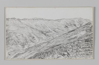 James Tissot (French, 1836-1902). <em>Mountains near Jerusalem</em>, 1886-1887 or 1889. Pen and ink, Sheet: 5 7/16 x 9 1/16 in. (13.8 x 23 cm). Brooklyn Museum, Purchased by public subscription, 00.159.367 (Photo: Brooklyn Museum, 00.159.367_IMLS_PS3.jpg)