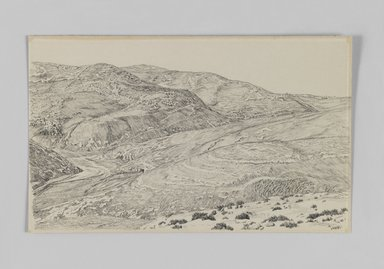 James Tissot (French, 1836-1902). <em>Valley of the Kedron</em>, 1886-1887 or 1889. Pen and ink on paper, Sheet: 5 7/16 x 8 7/8 in. (13.8 x 22.5 cm). Brooklyn Museum, Purchased by public subscription, 00.159.393 (Photo: Brooklyn Museum, 00.159.393_IMLS_PS3.jpg)