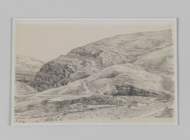 James Tissot (French, 1836-1902). <em>Valley of the Kedron Near Mar-Saba</em>, 1886-1887 or 1889. Pen and ink, Sheet: 6 x 9 3/8 in. (15.2 x 23.8 cm). Brooklyn Museum, Purchased by public subscription, 00.159.404 (Photo: Brooklyn Museum, 00.159.404_IMLS_PS3.jpg)