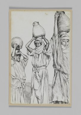 James Tissot (French, 1836-1902). <em>Women of Galilee</em>, 1886-1887 or 1889. Pen and ink, Sheet: 7 1/4 x 4 11/16 in. (18.4 x 11.9 cm). Brooklyn Museum, Purchased by public subscription, 00.159.407 (Photo: Brooklyn Museum, 00.159.407_IMLS_PS3.jpg)