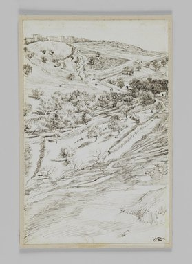 James Tissot (French, 1836-1902). <em>Valley of Jehoshaphat</em>, 1886-1887 or 1889. Ink on paper, Sheet: 7 3/16 x 4 5/8 in. (18.3 x 11.7 cm). Brooklyn Museum, Purchased by public subscription, 00.159.416 (Photo: Brooklyn Museum, 00.159.416_IMLS_PS3.jpg)