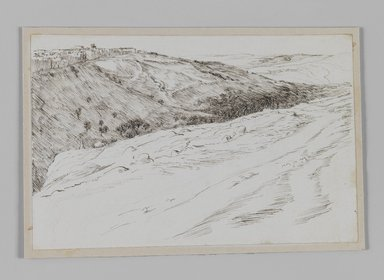 James Tissot (French, 1836-1902). <em>Valley of Jehoshaphat Coming from Bethany (Vallée Josaphat en venant de Béthanie)</em>, 1886-1887 or 1889. Pen and ink, Sheet: 4 11/16 x 7 3/16 in. (11.9 x 18.3 cm). Brooklyn Museum, Purchased by public subscription, 00.159.419 (Photo: Brooklyn Museum, 00.159.419_IMLS_PS3.jpg)