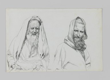 James Tissot (French, 1836-1902). <em>Types of Jews</em>, 1886-1887 or 1889. Ink on paper mounted on board, Sheet: 4 3/4 x 7 1/8 in. (12.1 x 18.1 cm). Brooklyn Museum, Purchased by public subscription, 00.159.422 (Photo: Brooklyn Museum, 00.159.422_IMLS_PS3.jpg)