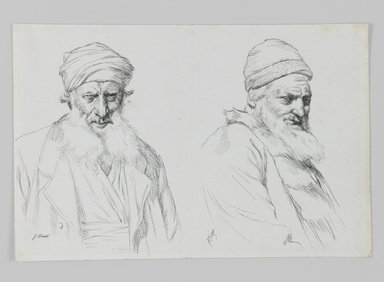 James Tissot (French, 1836-1902). <em>Types of Jews</em>, 1886-1887 or 1889. Ink on paper, Sheet: 4 3/4 x 7 1/16 in. (12.1 x 17.9 cm). Brooklyn Museum, Purchased by public subscription, 00.159.432 (Photo: Brooklyn Museum, 00.159.432_IMLS_PS3.jpg)