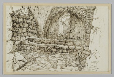 James Tissot (French, 1836-1902). <em>Job's Well (Le Puits de Job. Bir-Ayoub)</em>, December 1886. Pen and ink on paper, Sheet: 4 11/16 x 7 1/4 in. (11.9 x 18.4 cm). Brooklyn Museum, Purchased by public subscription, 00.159.435 (Photo: Brooklyn Museum, 00.159.435_PS2.jpg)