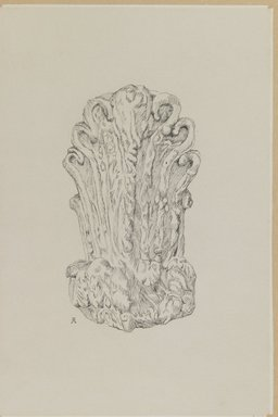James Tissot (French, 1836-1902). <em>Judaic Ornament</em>, 1886-1887 or 1889. Pen and ink on paper mounted on board, Sheet: 8 13/16 x 5 7/8 in. (22.4 x 14.9 cm). Brooklyn Museum, Purchased by public subscription, 00.159.436 (Photo: Brooklyn Museum, 00.159.436_IMLS_PS3.jpg)