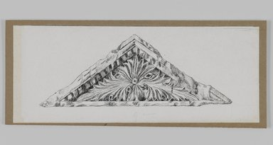 James Tissot (French, 1836-1902). <em>Judaic Ornament</em>, 1886-1887 or 1889. Pen and ink on paper mounted on board, Sheet: 2 7/8 x 7 3/16 in. (7.3 x 18.3 cm). Brooklyn Museum, Purchased by public subscription, 00.159.438.1 (Photo: Brooklyn Museum, 00.159.438.1_IMLS_PS3.jpg)
