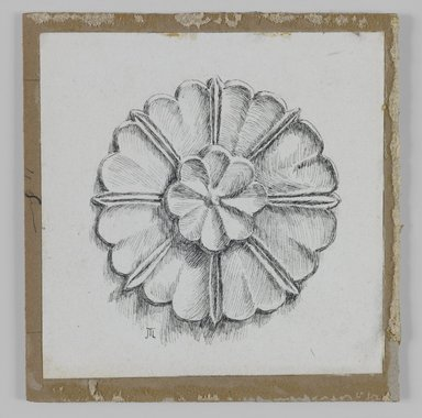 James Tissot (French, 1836-1902). <em>Judaic Ornament</em>, 1886-1887 or 1889. Ink on paper, Sheet: 3 9/16 x 3 1/2 in. (9 x 8.9 cm). Brooklyn Museum, Purchased by public subscription, 00.159.438.5 (Photo: Brooklyn Museum, 00.159.438.5_IMLS_PS3.jpg)