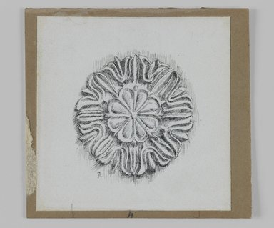 James Tissot (French, 1836-1902). <em>Judaic Ornament  (Rosette)</em>, 1886-1887 or 1889. Ink on paper, Sheet: 3 9/16 x 3 9/16 in. (9 x 9 cm). Brooklyn Museum, Purchased by public subscription, 00.159.438.6 (Photo: Brooklyn Museum, 00.159.438.6_IMLS_PS3.jpg)