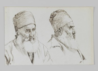 James Tissot (French, 1836-1902). <em>An Armenian</em>, 1886-1887 or 1889. Ink on paper, Sheet: 4 11/16 x 7 1/8 in. (11.9 x 18.1 cm). Brooklyn Museum, Purchased by public subscription, 00.159.447 (Photo: Brooklyn Museum, 00.159.447_IMLS_PS3.jpg)