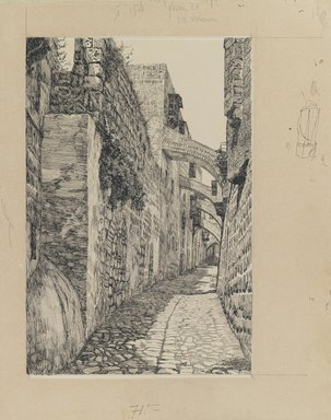 James Tissot (French, 1836-1902). <em>Via Dolorosa</em>, 1886-1887 or 1889. Ink and graphite on paperboard, Image: 8 13/16 x 5 15/16 in. (22.4 x 15.1 cm). Brooklyn Museum, Purchased by public subscription, 00.159.457 (Photo: Brooklyn Museum, 00.159.457_IMLS_PS3.jpg)