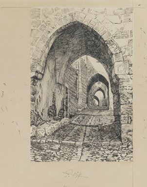 James Tissot (French, 1836-1902). <em>Via Dolorosa</em>, 1886-1887 or 1889. Ink and graphite on paperboard, Image: 9 1/16 x 6 in. (23 x 15.2 cm). Brooklyn Museum, Purchased by public subscription, 00.159.458 (Photo: Brooklyn Museum, 00.159.458_IMLS_PS3.jpg)