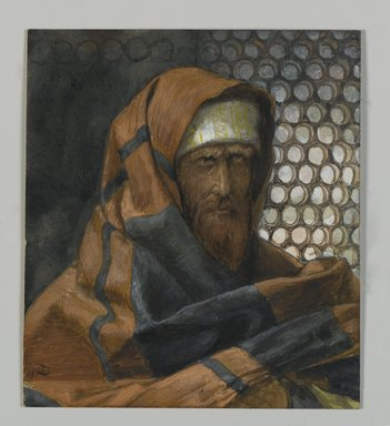 James Tissot (French, 1836-1902). <em>Nicodemus (Nicodème)</em>, 1886-1894. Opaque watercolor over graphite on gray wove paper, Image: 4 11/16 x 4 3/16 in. (11.9 x 10.6 cm). Brooklyn Museum, Purchased by public subscription, 00.159.65 (Photo: Brooklyn Museum, 00.159.65_PS2.jpg)