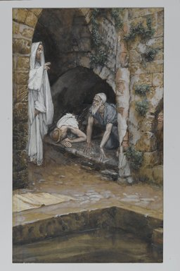 James Tissot (French, 1836-1902). <em>The Man with an Infirmity of Thirty-Eight Years (Le malade de trente-huit ans)</em>, 1886-1894. Opaque watercolor over graphite on gray wove paper, Image: 10 1/2 x 6 1/4 in. (26.7 x 15.9 cm). Brooklyn Museum, Purchased by public subscription, 00.159.67 (Photo: Brooklyn Museum, 00.159.67_PS2.jpg)