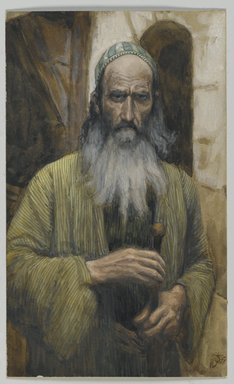 James Tissot (French, 1836-1902). <em>Saint Paul</em>, 1886-1894. Opaque watercolor over graphite on gray wove paper, image: 6 1/2 x 3 15/16 in. (16.5 x 10 cm). Brooklyn Museum, Purchased by public subscription, 00.159.83 (Photo: Brooklyn Museum, 00.159.83_PS2.jpg)