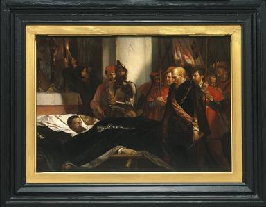Louis Gallait (Belgian, 1810-1887). <em>The Last Honors to Counts Egmont and Hoorne, reduction (Les derniers honneurs rendus aux Comtes d'Egmont et d'Hornes, réduction)</em>, 1859. Oil on panel, 13 3/4 x 20 in. (34.9 x 50.8 cm). Brooklyn Museum, Gift of A. Augustus Healy and Frank Healy in memory of Aaron Healy, 00.62 (Photo: Brooklyn Museum, 00.62_SL1.jpg)