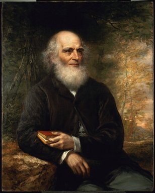 Daniel Huntington (American, 1816-1906). <em>William Cullen Bryant</em>, 1866. Oil on canvas, 39 15/16 x 32 in. (101.5 x 81.3 cm). Brooklyn Museum, Gift of A. Augustus Healy, Carll H. de Silver, Eugene G. Blackford, Clarence W. Seamans, Horace J. Morse, Robert B. Woodward, James R. Howe, William B. Davenport, Frank S. Jones, Abraham Abraham, and Charles A. Schieren, 01.1507 (Photo: Brooklyn Museum, 01.1507_SL3.jpg)