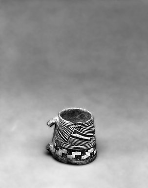 Ancient Pueblo (Anasazi). <em>Black on White Mug</em>. Clay, slip, 9 1/2 x 10 in. (24.1 x  25.4 cm). Brooklyn Museum, Gift of Charles A. Schieren, 01.1538.1748. Creative Commons-BY (Photo: Brooklyn Museum, 01.1538.1748_bw.jpg)