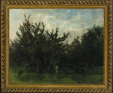 Charles-François Daubigny (French, 1817-1878). <em>An Apple Orchard</em>, 1871-1878. Oil on glue-lined canvas, 51 x 64 in.  (130.2 x 162.6 cm). Brooklyn Museum, Gift of A. Augustus Healy, 02.252 (Photo: Brooklyn Museum, 02.252_SL1.jpg)