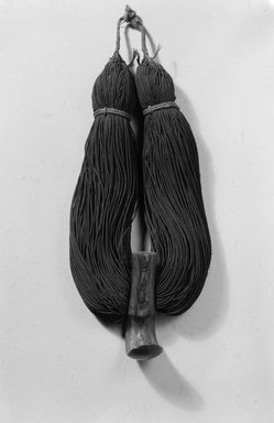 Hawaiian. <em>Necklace (Lei Niho Palaoa)</em>, 19th-early 20th century. Human hair, sperm whale tooth, fiber, cord: 13 in. (33 cm). Brooklyn Museum, Gift of George C. Brackett and Robert B. Woodward, 02.258.2623. Creative Commons-BY (Photo: Brooklyn Museum, 02.258.2623_acetate_bw.jpg)