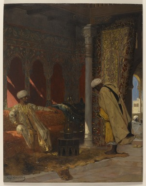 Jean-Joseph-Benjamin Constant (French, 1845-1902). <em>The Order of the Grand Vizier</em>, n.d. Oil on canvas, 21 11/16 x 16 15/16 in.  (55.1 x 43.0 cm). Brooklyn Museum, Bequest of Henry W. Maxwell, 03.312 (Photo: Brooklyn Museum, 03.312_PS9.jpg)