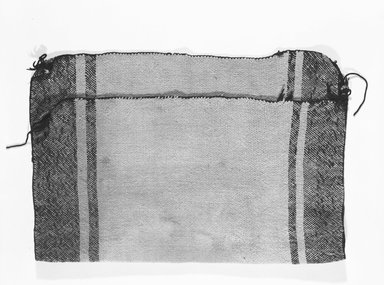 She-we-na (Zuni Pueblo). <em>Child's Cape</em>. Wool, 24 x 19 11/16in. (61 x 50cm). Brooklyn Museum, Museum Expedition 1903, Museum Collection Fund, 03.325.3371. Creative Commons-BY (Photo: Brooklyn Museum, 03.325.3371_bw_SL5.jpg)