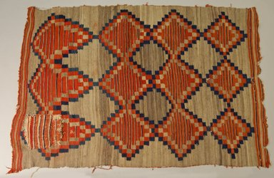 Navajo. <em>Blanket (Pisali)</em>. Wool, vegetal dyes, 61 13/16 x 41 3/4in. (157 x 106cm). Brooklyn Museum, Museum Expedition 1903, Museum Collection Fund, 03.325.3758. Creative Commons-BY (Photo: Brooklyn Museum, 03.325.3758_PS5.jpg)