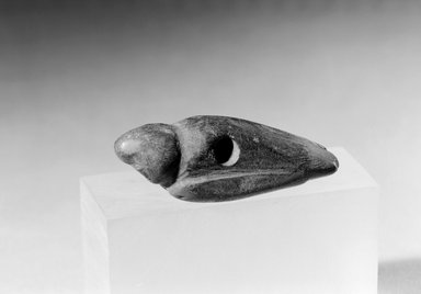 Southwest (unidentified). <em>Bird Charm</em>, 600-1300. Stone or Bone, 1 7/8 x 5/8 x 9/16 in. (4.8 x 1.6 x 1.4 cm). Brooklyn Museum, Museum Expedition 1903, Museum Collection Fund, 03.325.4522. Creative Commons-BY (Photo: Brooklyn Museum, 03.325.4522_acetate_bw.jpg)