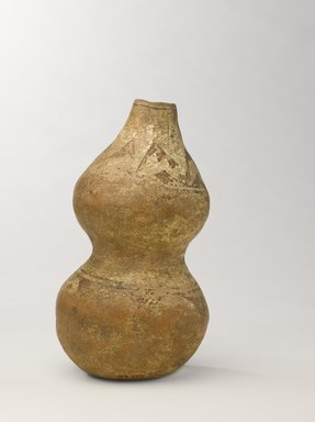 She-we-na (Zuni Pueblo). <em>Jar in the Shape of a Gourd</em>, purchased in 1903. Clay, 8 7/8 x 4 1/2 x 4 1/2 in. (22.5 x 11.4 x 11.4 cm). Brooklyn Museum, Museum Expedition 1903, Museum Collection Fund, 03.325.4753. Creative Commons-BY (Photo: Brooklyn Museum, 03.325.4753_view3_PS9.jpg)