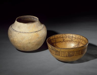 She-we-na (Zuni Pueblo). <em>Food Bowl (To-ya-sa-lai)</em>. Clay, slip, 5 5/16 x 11 5/8 x 11 5/8 in. (13.5 x 29.5 x 29.5 cm). Brooklyn Museum, Museum Expedition 1904, Museum Collection Fund, 04.297.5261. Creative Commons-BY (Photo: , 04.297.5259_04.297.5261_SL3.jpg)