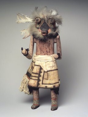 Mau-i (She-we-na (Zuni Pueblo)). <em>Kachina Doll (Tsepothle)</em>, late 19th-early 20th century. Fur, feathers, pigment, wood, cotton, 17 5/16 x 5 1/2 x 5 7/8 in. (44 x 14 x 14.9 cm). Brooklyn Museum, Museum Expedition 1904, Museum Collection Fund, 04.297.5341. Creative Commons-BY (Photo: Brooklyn Museum, 04.297.5341_transp6235.jpg)