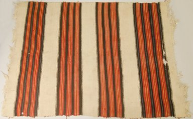 Navajo. <em>Blanket</em>. Wool, dye, 66 15/16 x 50 3/8in. (170 x 128cm). Brooklyn Museum, Museum Expedition 1904, Museum Collection Fund, 04.297.5461. Creative Commons-BY (Photo: Brooklyn Museum, 04.297.5461_PS5.jpg)