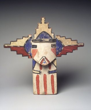 Hopi Pueblo. <em>Kachina Doll (Palhikmana)</em>, late 19th century. Wood, pigment, 12 × 12 1/4 × 1 3/4 in. (30.5 × 31.1 × 4.4 cm). Brooklyn Museum, Museum Expedition 1904, Museum Collection Fund, 04.297.5528. Creative Commons-BY (Photo: Brooklyn Museum, 04.297.5528_transp6233.jpg)